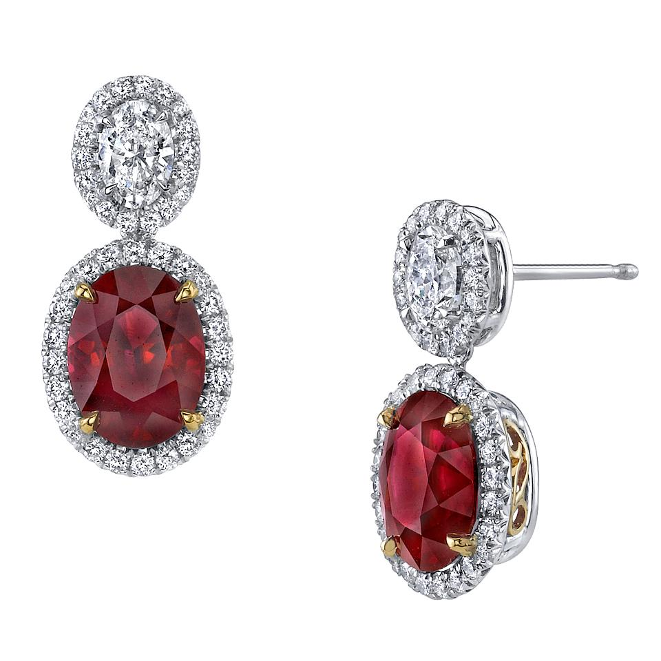 harry winston � ruby and diamond cluster earrings � silaba